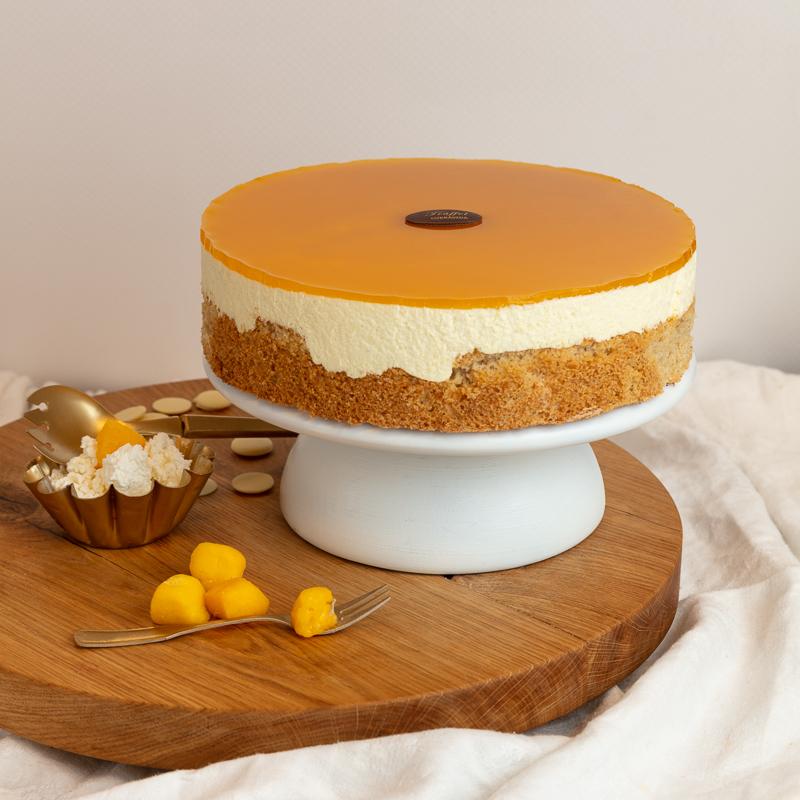Cukor- Liszt- és Tejmentes Mangós Túró torta