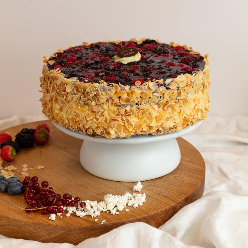 Erdei Gyümölcsös Túró torta 10 szeletes
