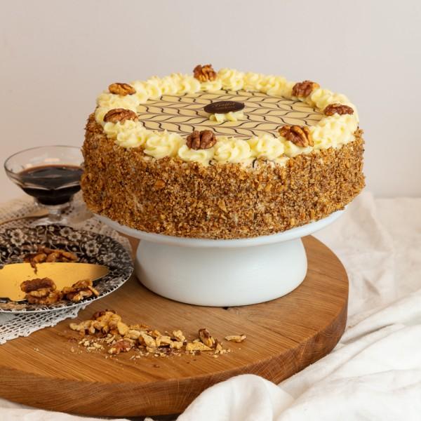 Eszterházy Dió torta 10 szeletes