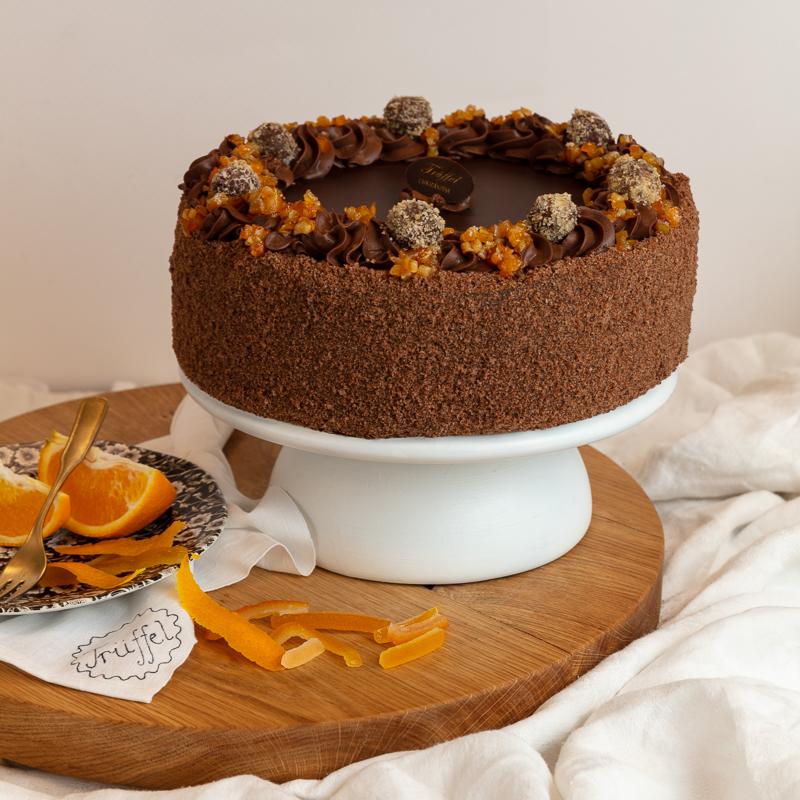 Narancsos Trüffel torta 16 szeletes