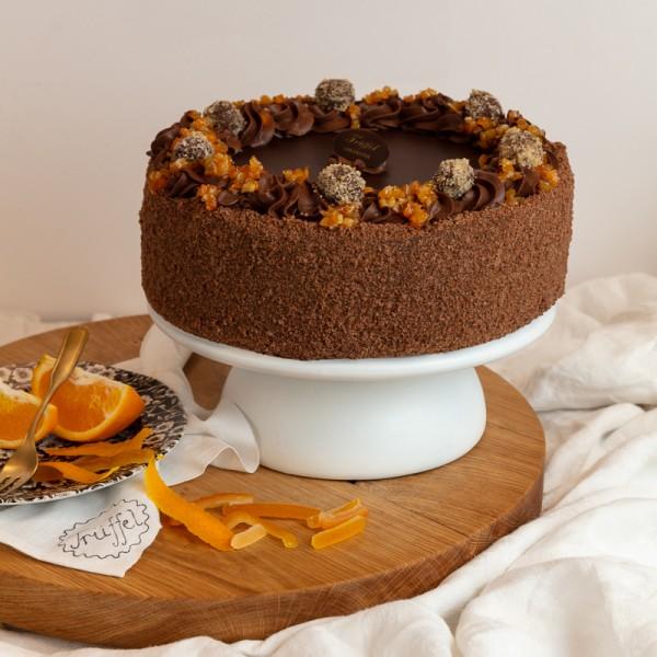 Narancsos Trüffel torta 10 szeletes