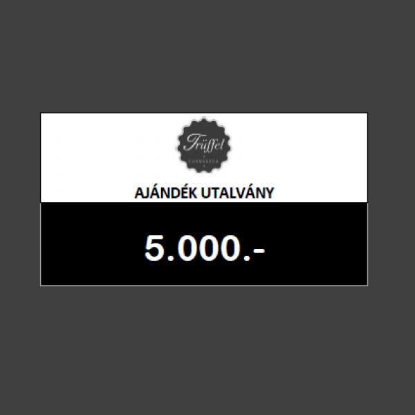 Ajándék utalvány 5.000.-Ft értékben