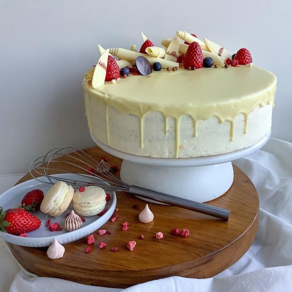 Fehércsokis Trüffel torta 10 szeletes