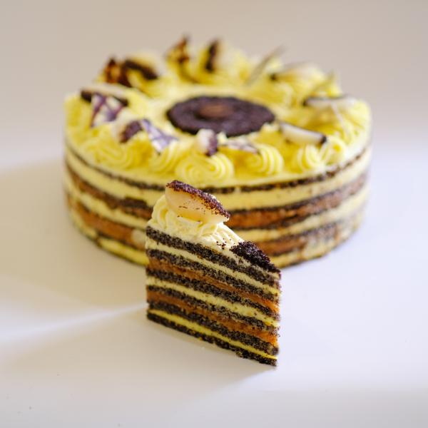 Almás Mákos torta 16 szeletes