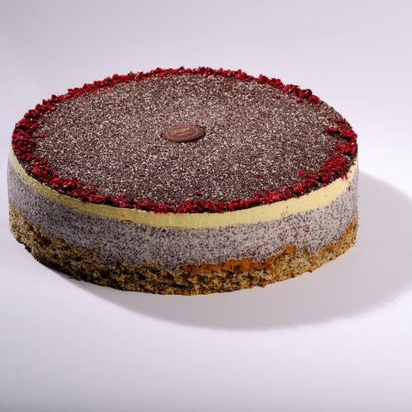Cukor- Liszt- és Tejmentes Meggyes Mákos torta 16 szeletes