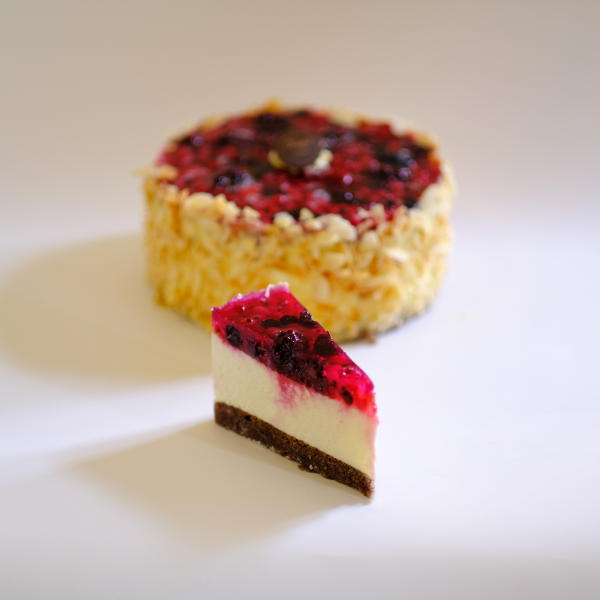 Nyírfacukros Erdei Gyümölcsös Túró  torta