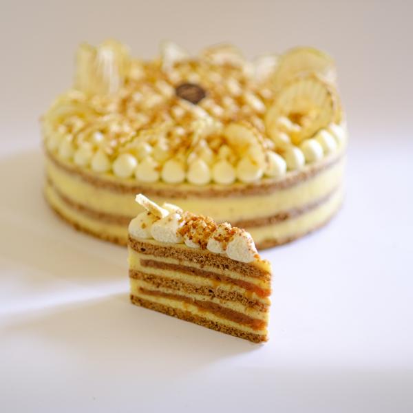 Cukor- Lisztmentes Rusztikus Almás Diós Vaníliás tortaszelet